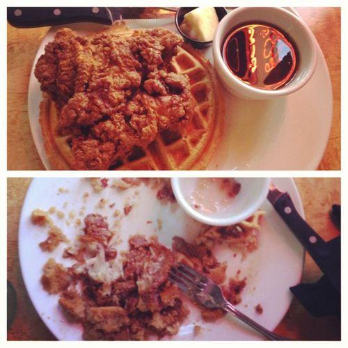 Iatethebones Chickenandwaffs Foodbaby