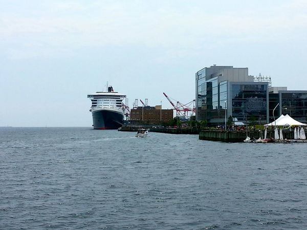 Queen Mary II docked in Halifax today. Cruise Ship Queen Mary 2 Waterfront