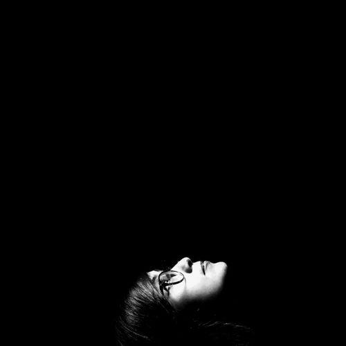 One Person Black Background Human Body Part Women Bnw Minimalistic Minimalmood Minimalism Indoors  Real People Women Around The World One Woman Only