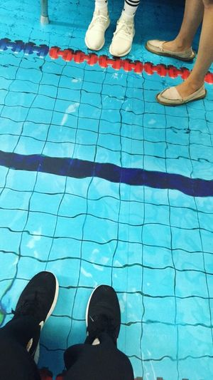 Low Section Shoe Human Leg Standing Human Foot Human Body Part Real People Leisure Activity Lifestyles Men Swimming Pool Day Water People Outdoors Adult Only Men Adults Only swimming pool metro in Taipei