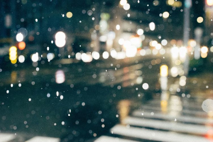 Defocused Night Illuminated Snowing Lighting Equipment Snow Snowflake Winter Car Weather Christmas Blizzard Street Light Street Cold Temperature Traffic Backgrounds Christmas Lights Abstract City Life Rain Rainy Days Rainy Day Raindrops RainDrop