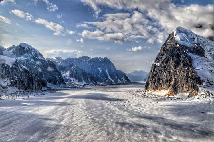 Denali mountain glacier