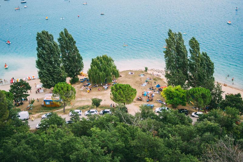 France Holidays Provence Sainte-Croix-du-Verdon High Angle View Lac Du Sainte Croix Lake Nature Outdoors People Summer Vacation Water