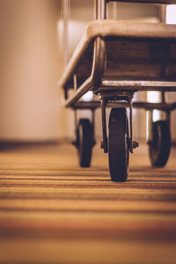 Carpet Down Low Hallway Hotel Low Perspective Luggage Cart  Thunder Bay Wheels