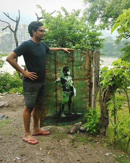 Self Portrait Around The World Rishikesh India That's Me