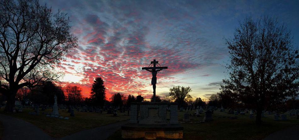 Cemetery Cemetery_shots Sunrise Sunrise_sunsets_aroundworld Sunrise_Collection Sun Silhouette Jesus Jesus Christ Cross