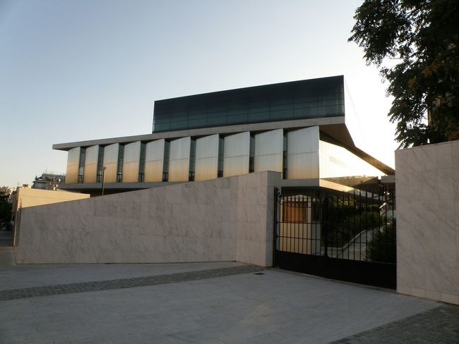 Modern Architecture Glass - Material Reflection Concretewalls Sunset Overexposed Architecture Stone Masonry