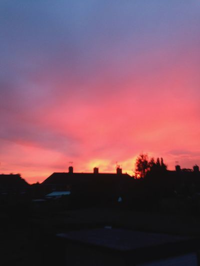 Sunset in the Suberbs Orange sky ❤️