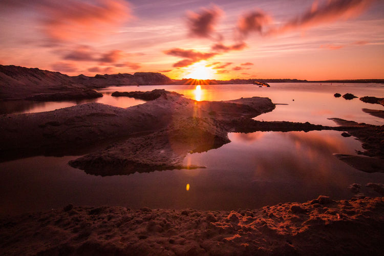 Astronomy Beach Beauty Beauty In Nature Cloud - Sky Dramatic Sky Ferry Galaxy Igniting Island Landscape Multi Colored Nature No People Norway Outdoors Reflection Romantic Sky Scenics Sea Sky Sun Sunset Tropical Climate Water