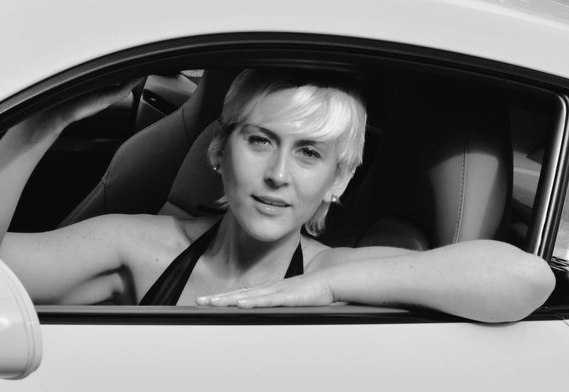 Erica B Car Motor Vehicle Mode Of Transportation Portrait Transportation One Person Headshot