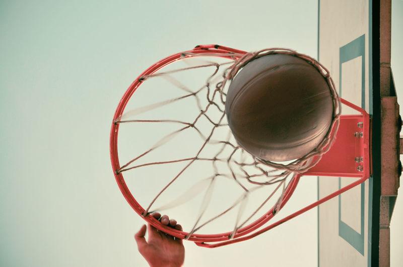 Dunk Outdoors Sport Basketball Modern Filter Modern Below Under Net Loop Hand Recreation  Recreational Pursuit person Summer Fun Score