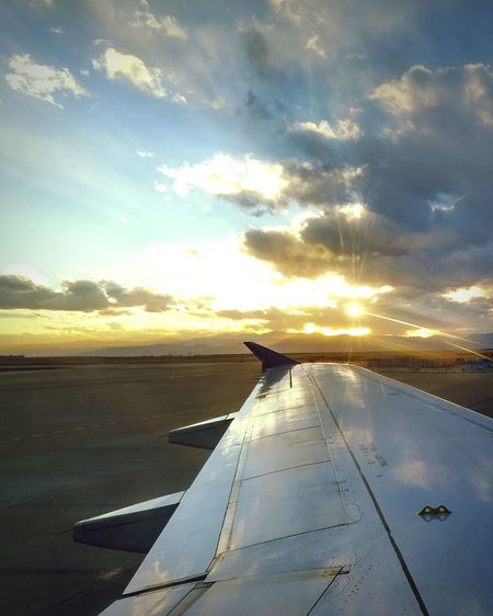 AirPlane ✈ Airplane Wing Airplaneview Travel Denver,CO Lovetotravel Sunset