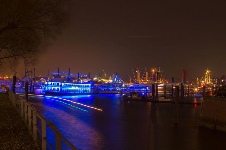 Hamburg Nachtfotografie Langzeitbelichtung✔ Hafen