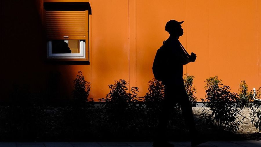 ~ chipper ~ Silhouette People Orange Streetphotography