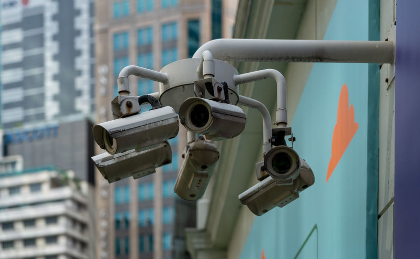 Security camera, singapore cbd