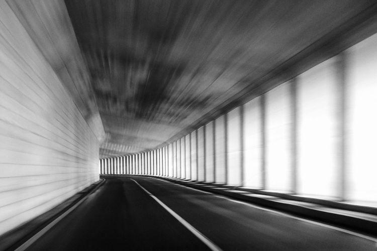 AW130 Eyeem Monochrome Whiteandblack Road Tunnel Diminishing Perspective