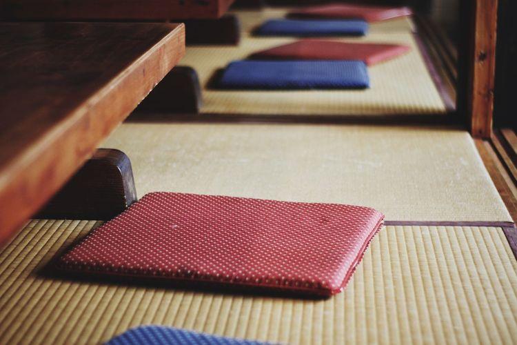 Close-Up Of Tatami Mats At Home