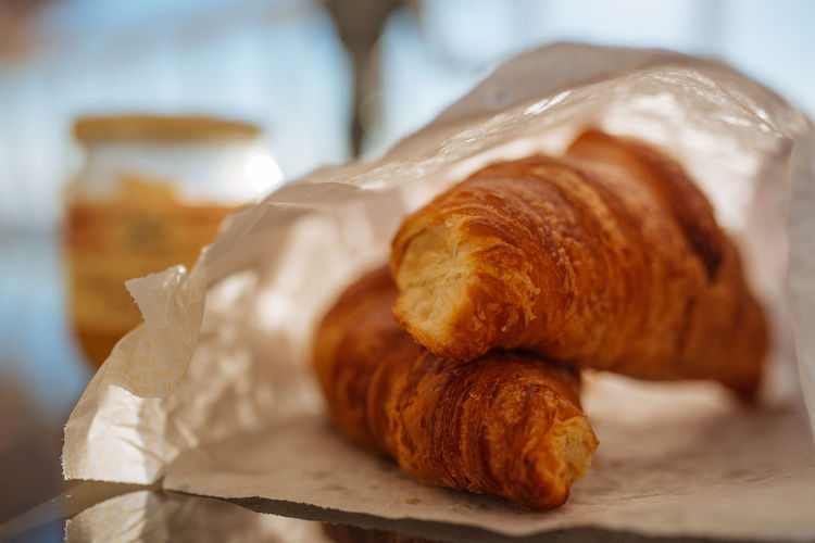 Breakfast Breakfast ♥ Croissant For Breakfast Croissants Baked Bread Breakfast Breakfast Time Brown Close-up Croissant Food Food And Drink French French Food Freshness Paper Ready-to-eat Selective Focus Snack Still Life Table