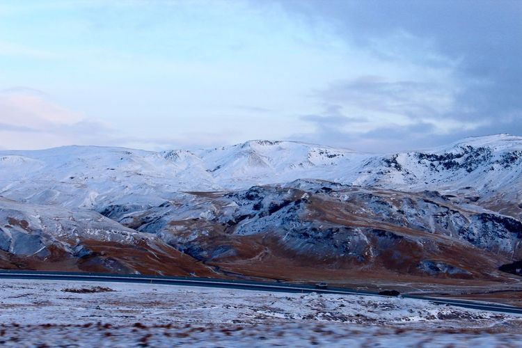 Iceland road trip, 2017. Iceland Beauty In Nature Cloud - Sky Cold Temperature Day Frozen Glacier Iceland Trip Landscape Mountain Nature No People Non-urban Scene Outdoors Scenics Snow Tranquil Scene Tranquility Winter