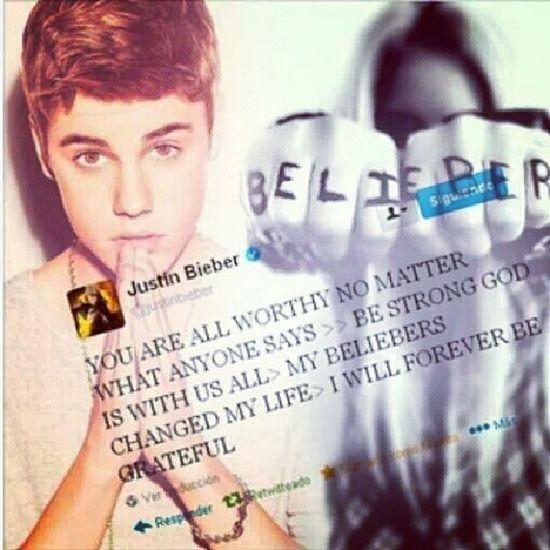 """""""Tu eres digno no importa lo que digan>> se fuerte Dios esta con todos nosotros>> Mis Beliebers cambiaron mi vida>>Siempre estare agradecido"""" TheBestIdol Iloveyou Justinbieber BelieberForever <3"""