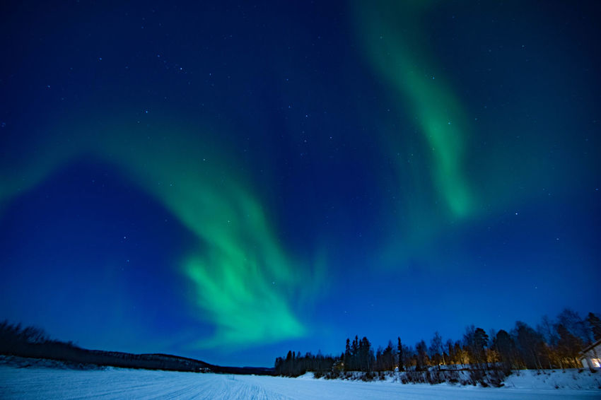 Astronomy Aurora Polaris Awe Beauty In Nature Cold Temperature Constellation Green Color Idyllic Illuminated Landscape Mountain Nature Night Nikon D7200 PhotoGraphy No People Outdoors Scenics Sky Snow Space Star - Space Tranquil Scene Tranquility Travel Destinations Winter