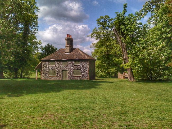 Flint Cottage At The Park Landscape Landscapes Landscape_photography Sky And Clouds Clouds And Sky Trees Hylands Hylands Park Greenery No People Windows Shutters Greenery TreePorn Chimney Flint EyeEm Best Shots Chelmsford Scenery Shot Landscapes With WhiteWall