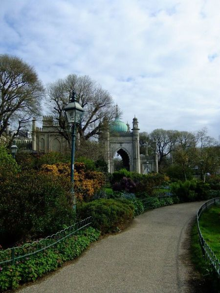 Royal Pavilion gardens, Brighton Royal Pavilion Gardens Royal Pavilion Brighton The Way Forward Sky Tree Road Path Diminishing Perspective Cloud Vanishing Point Nature Leading Plant Day Outdoors Landscape