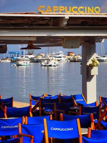 Blue Lightandshadow Sunlight No People Nautical Vessel Harbour Harbor Coffee Coffee Time Coffee Shop