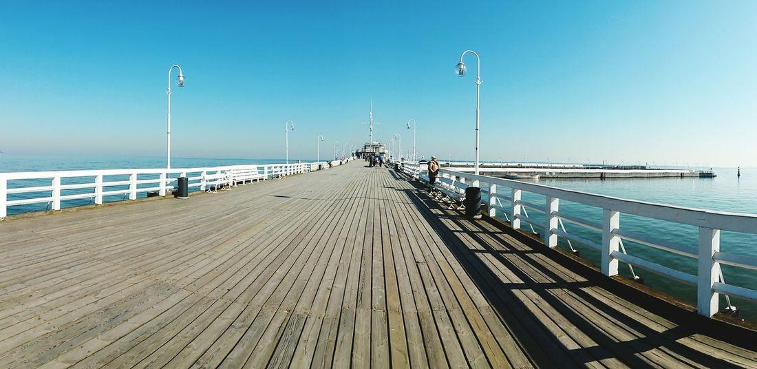 Sopot, Poland Molo Ponton Seaside Sea Gdansk Polska Holidays Wood Blue Panorama Panorama View View Urodziny Baltic Sea Check This Out Longest Bridge Poland Is Beautiful