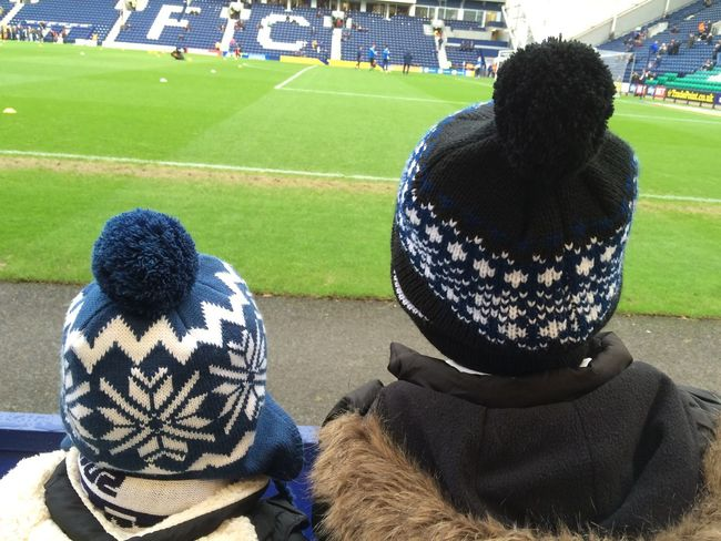 People Together Brother & Sister Football Match Bobble Hat  Soccer Watching Love The Game