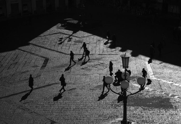 Adult Adults Only Bianco E Nero Black And White Photography Blackandwhite Blackandwhite Photography Catania Day Focus On Shadow High Angle View Large Group Of People Men Nikkor Nikon Only Men Outdoors People Real People Shadow Sicilia Sicily Silhouette Sunlight Streetwise Photography My Best Photo