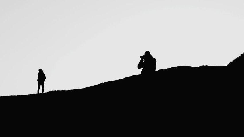 B&W Photo Session Blackandwhite Blackandwhite Photography Black & White Black And White Collection  Black And White Travel Travel Destinations Full Length Silhouette Walking Copy Space Sky Tourism Tourist Attraction  Famous Place Civilization Couple Friend