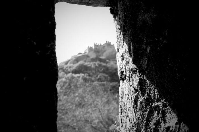 Mountain Sky Sintra Sintra (Portugal) Castelo Mouros Moorish Castle Textured  Rough Portugal Castle Castelo Through The Window Shadow Shadows & Lights