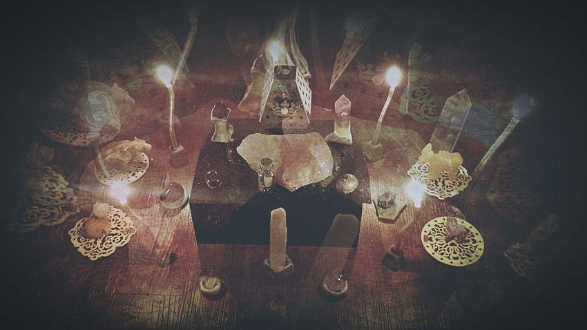 Meditate. Crystals Meditation Zen Candlestick Double Exposure