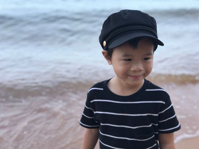 EyeEm Selects Child Childhood Boys Males  Men Front View Focus On Foreground Leisure Activity One Person Real People Casual Clothing Land Lifestyles Day Beach Standing Innocence Outdoors