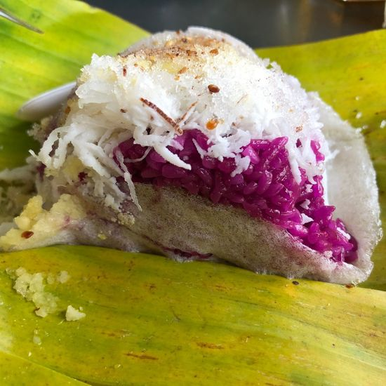 Violet sticky rice Food Food And Drink Freshness Ready-to-eat Close-up Indoors  Still Life Meal Vegetable No People