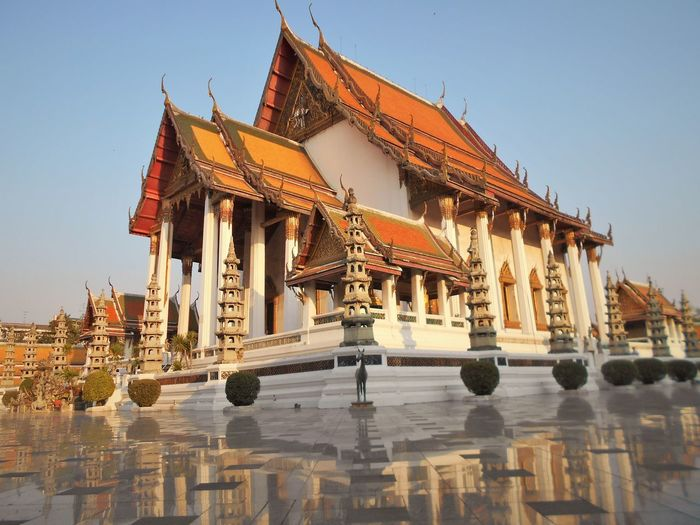 Wat Suthat Architecture Building Exterior Built Structure Clear Sky Day History No People Outdoors Place Of Worship Religion Sky Spirituality Temple - Building Travel Travel Destinations