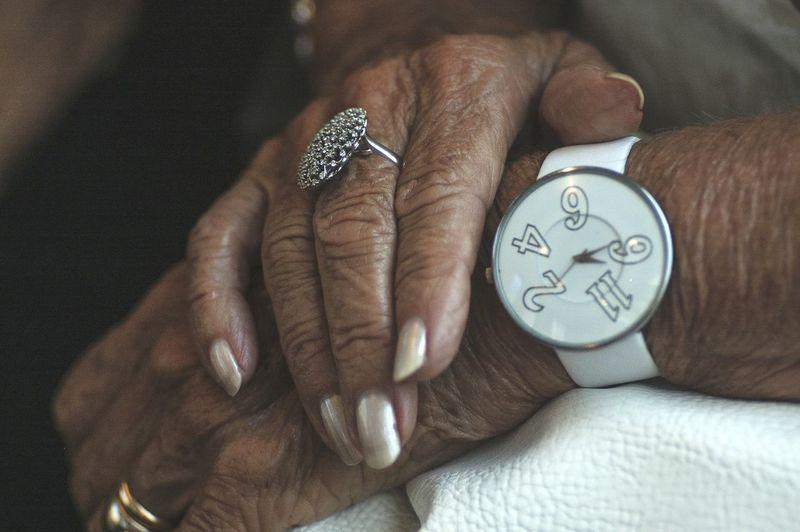 Close-Up Of Senior Woman Hands