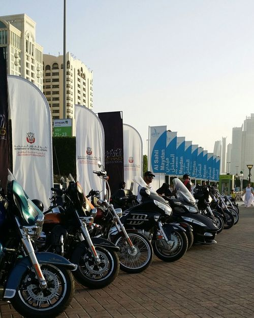 Uae,abudhabi Motorbikes Show at the side of Etihadairways 3rd Annual Charity Event Run For A Cause