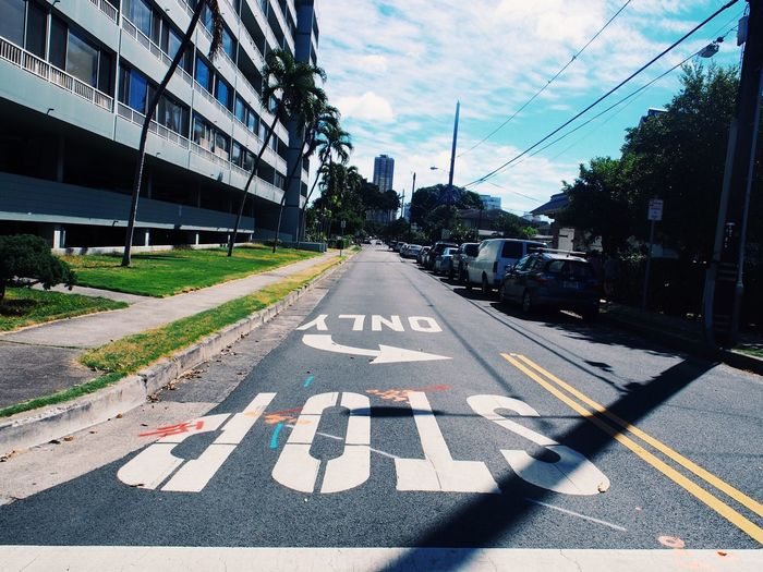 Hawaii Sunny Transportation Road Day Building Exterior Architecture Built Structure Communication Sky City Road Sign First Eyeem Photo EyeEmNewHere