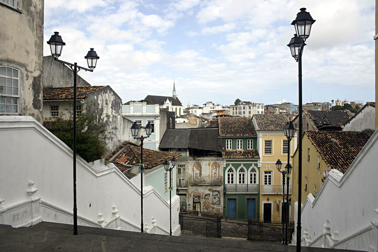 Architecture Bahia Bahiana Building City Colonial Color Colour Culture Hill Historical History House Lantern Light Old Pelourinho Salvador South America Staircase Stairs Street Photography Travel Urban Vintage