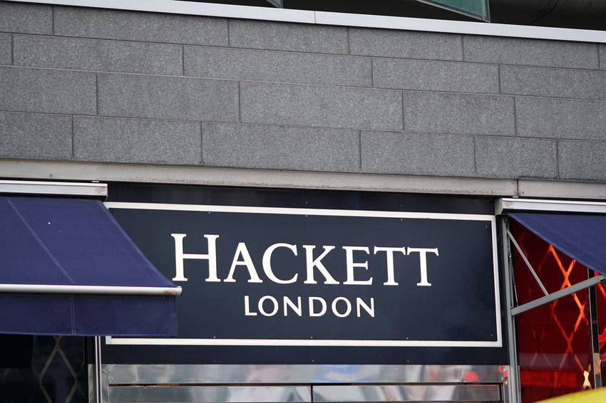 Brussels, Belgium - December 9, 2017: Hackett London store. Hackett Limited is a multi-channel British menswear retailer, specialising in formal men's shirts as well as other clothing Clothes Store Fashion Brand Clothes Shop Clothes Shopping Clothing Shop Clothing Store Editorial  No People Outdoors Style