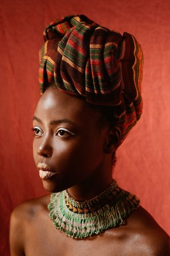 Portrait Kenya Beautiful Woman African Fashion Model Africa Africanwoman African Beauty Studio Shot