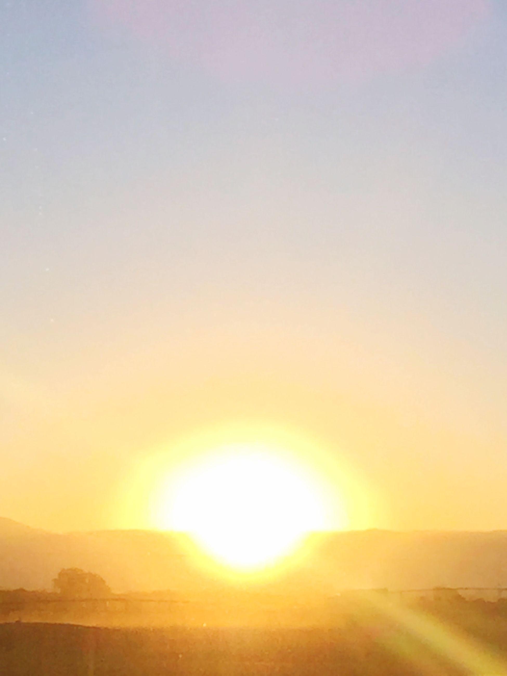 sun, sunset, tranquil scene, scenics, tranquility, beauty in nature, sunlight, sunbeam, landscape, nature, clear sky, copy space, idyllic, sky, lens flare, orange color, outdoors, non-urban scene, no people, bright