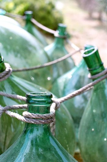 Tuscany Italy Tuscany EyeEm Filmphotography Travel Destinations Focus On Foreground Close-up No People Day Rope Nature Water Selective Focus Green Color Tied Up