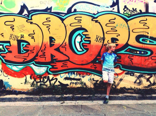 Urban Undercover Graffiti Street Creativity City Life Street Art Athens Urban Brother Holiday Street Vibes Athens Greece First Eyeem Photo