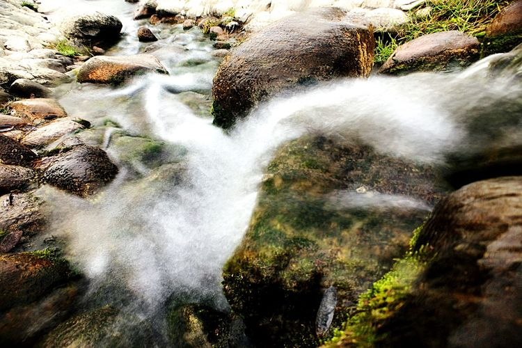Waterfall Motion Beauty In Nature Nature Long Exposure Rock - Object Water Scenics Blurred Motion Outdoors No People Day Idyllic Splashing Tranquility Forest Tranquil Scene Rapid Tree Freshness Cascade