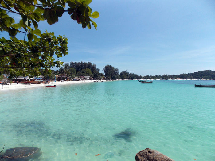 Beauty In Nature Blue Idyllic Nature Outdoors Sea Sky Tranquil Scene Tranquility Tree Turquoise Colored Water Seascape Horizon Over Water Travel Photography Beach Lovers Travel Thailand Koh Lipe Holiday The Essence Of Summer