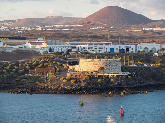 The city of arrecife in spain