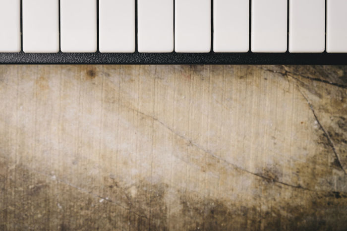 Keyboard synthesizer Backgrounds Black Buttons Close-up Composer Copy Space Electro Indoors  Instrument Key Keyboard Instrument Man Music No People Note Piano Player Playing Song Songwriter Synthesizer Technology Textured  White Wood - Material